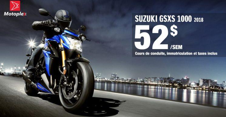 SUZUKI GSXS 1000: Promotion nouveau conducteur