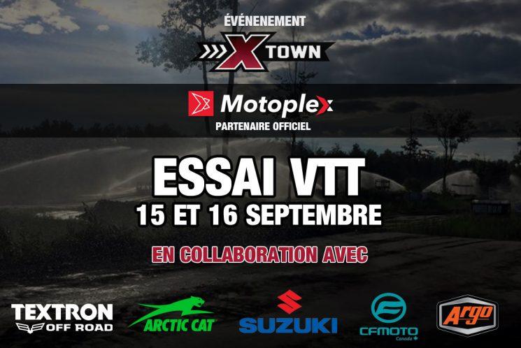 X-Town: Essai VTT les 15 et 16 septembre 2018