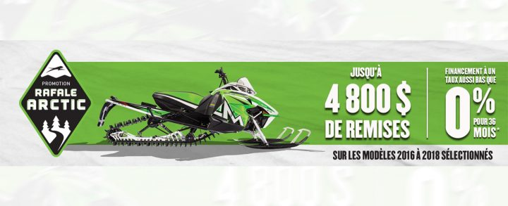 Promotion Rafale Arctic Cat