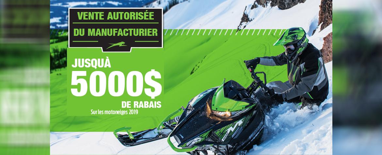 RABAIS MOTONEIGE 2019