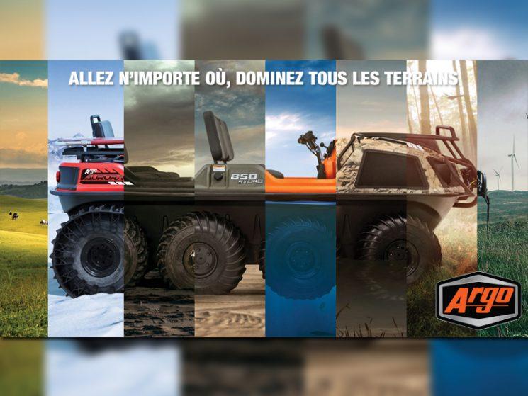 Argo : les VTT 6X6 et 8X8 amphibies