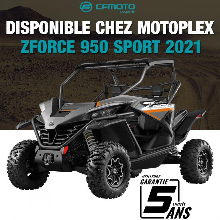 Le nouveau ZForce 950 sport 2021 de CFMOTO