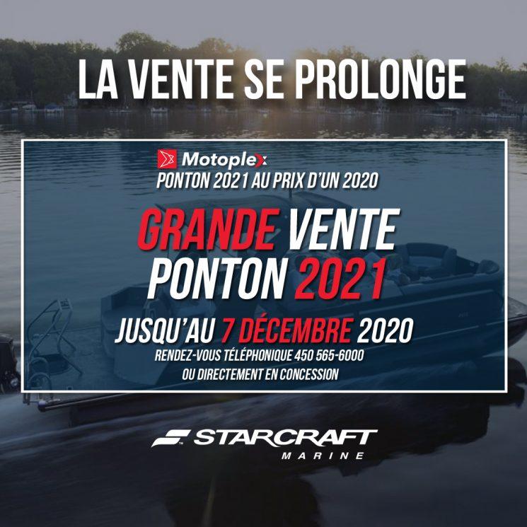 LA VENTE 72HRS PONTON STARCRAFT